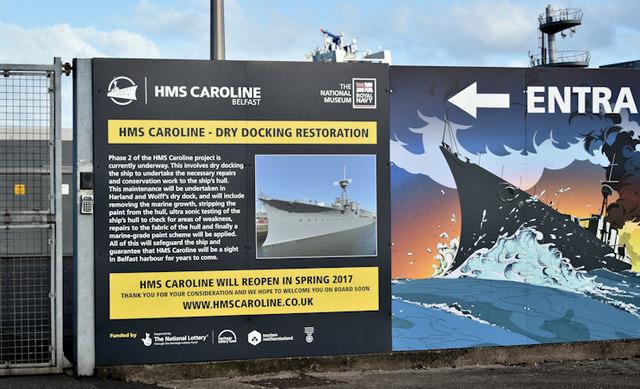 "Sign, HMS ""Caroline"", Belfast (November 2016)"