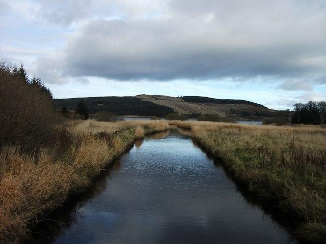 River Carron approaches Carron Valley Reservoir