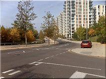 TQ3784 : Apartment Blocks on Olympic Park Avenue by David Dixon