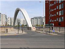 TQ3784 : Olympic Park Avenue (Bridge over the Railway) by David Dixon