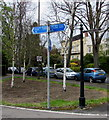 SO9321 : Two signposts in Lansdown, Cheltenham by Jaggery