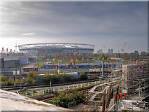 TQ3784 : Stratford, View to the Olympic Stadium and Queen Elizabeth Olympic Park by David Dixon
