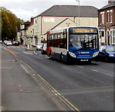 SO8317 : Tuffley Court bus in Park End Road, Gloucester by Jaggery