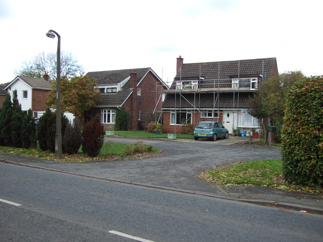Houses on Holmes Chapel Road, Lach Dennis