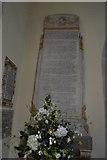 TQ5243 : Church of St John the Baptist - WWII War Memorial by N Chadwick