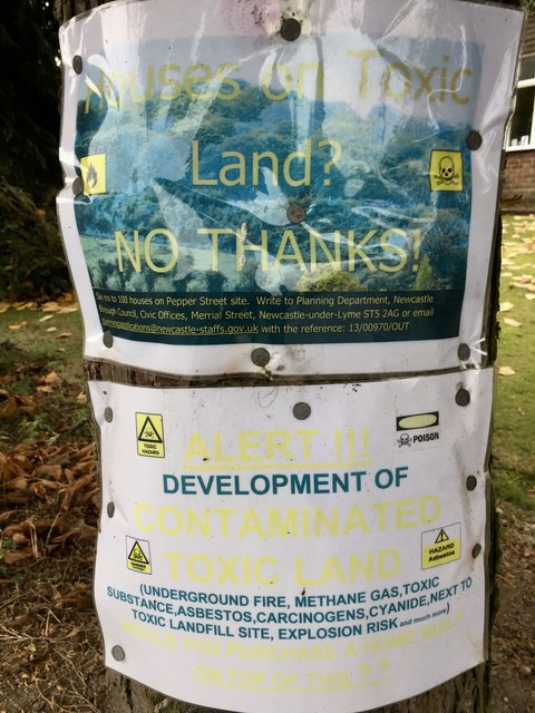 Keele: posters protesting housing development