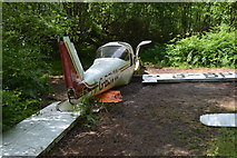 TQ5345 : Plane wreck, Penshurst Park by N Chadwick