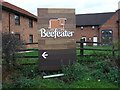 SJ6755 : Sign for the Beefeater public house, Marshfield Bank by JThomas