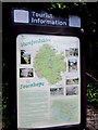 SO5734 : Fownhope tourist information board by Jaggery