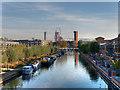 TQ3685 : River Lee Navigation, Hackney Wick by David Dixon