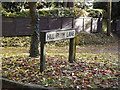 TL1916 : Hill Farm Lane sign by Adrian Cable