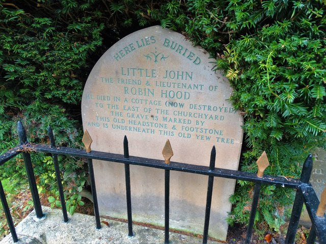 Little John's grave in Hathersage churchyard
