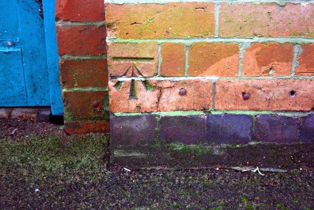 Benchmark on former Zion Chapel, Erskine Street