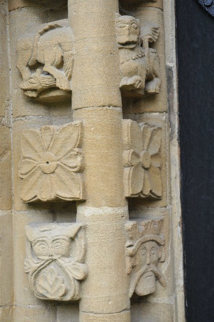 Carvings in a Norman arch #1
