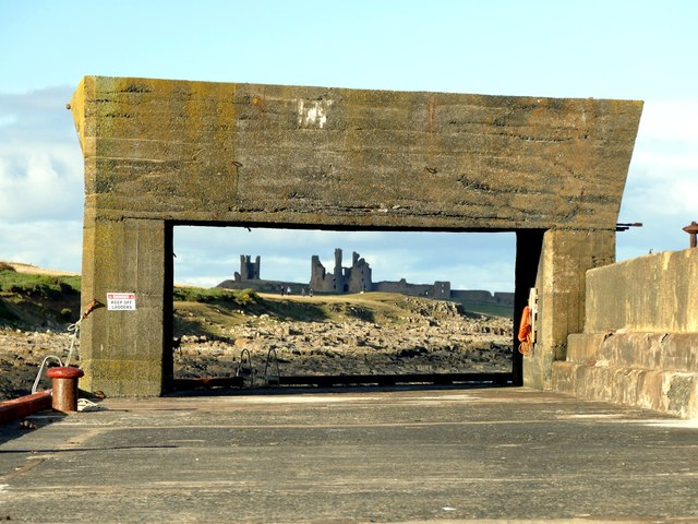 Craster Harbour wall