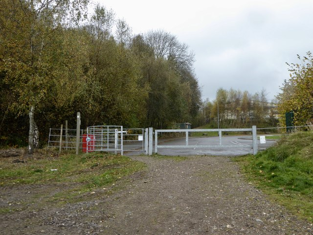 Silverdale Country Park: path onto Cannel Row