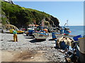 SW7214 : Fishing boats - Cadgwith Cove by Chris Allen