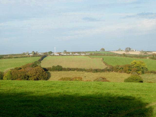 Fields in the Lynher valley near Trekernell