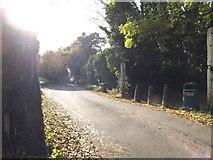 TL1614 : Leasey Bridge Lane & Lea Valley Walk Bridleway by Adrian Cable