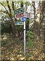 TL1614 : Lea Valley Walk Bridleway sign by Adrian Cable