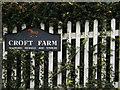 TL1614 : Croft Farm sign by Geographer