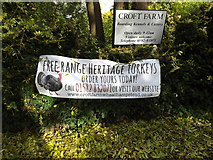 TL1614 : Croft Farm sign & Poster by Adrian Cable