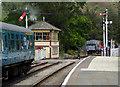 SJ1542 : Diesel multiple unit at Glyndyfrdwy in Denbighshire by Roger  Kidd