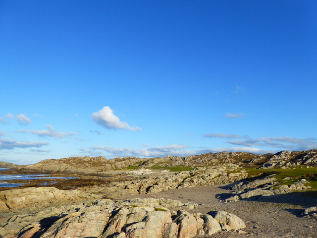 Rocky shoreline to the west of Hogh Bay, Isle of Coll