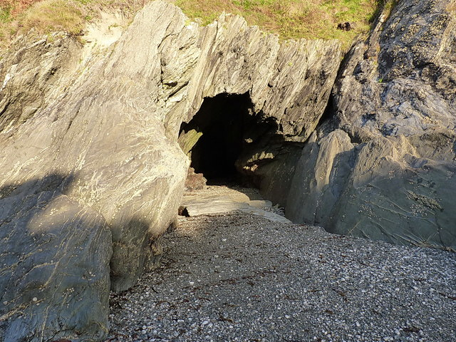 Sea cave and a little beach