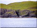 NM3235 : Staffa Landing Stage at Clamshell Cave by David Dixon