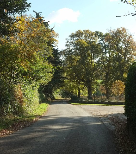 Old Exeter Road at Whiteway