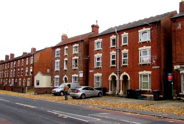 Three-storey houses, Park End Road, Gloucester