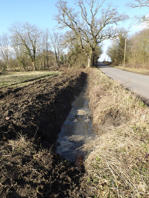 Newly Dug Ditch off Rendham Road