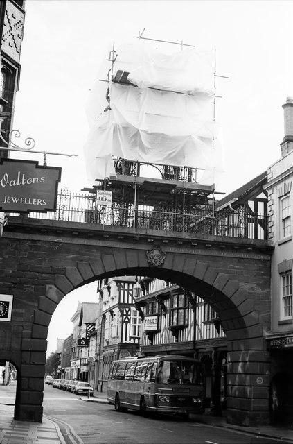 Eastgate and Eastgate Clock Restoration, Chester 1979