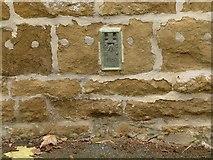 SK7724 : Flush bracket bench mark, Main Road, Wycomb by Alan Murray-Rust