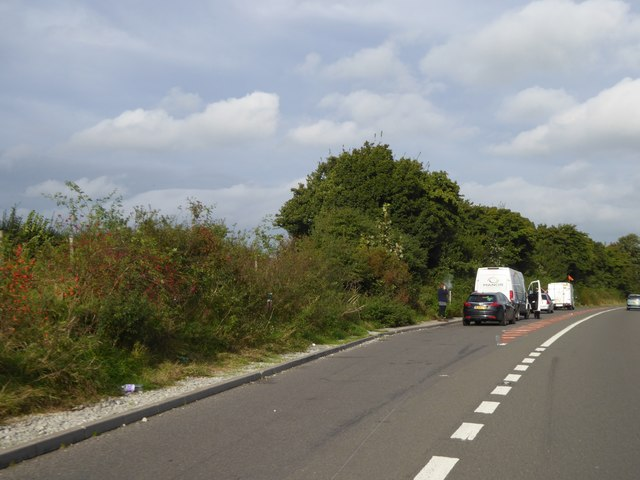 Lay-by by A590 near M6 J36