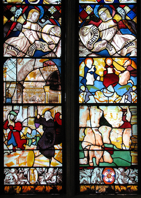 Continental stained glass in Kimberley St Peter