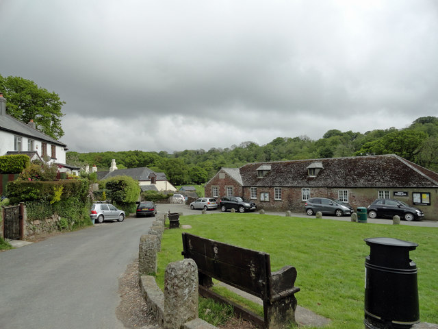 Part of Meavy Village from the Royal Oak public house