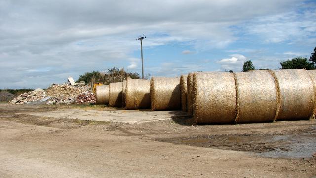 Straw bales by Earsham Park Farm