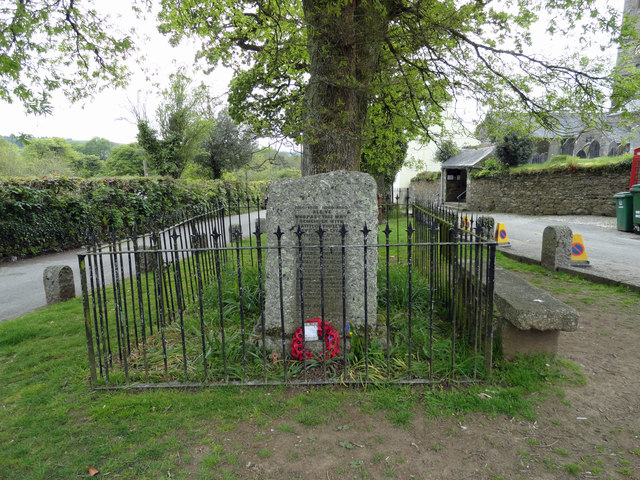 Memorial in Meavy village