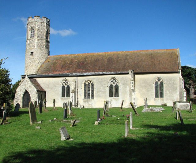 The church of All Saints in Woodton