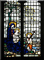TM4396 : The church of St Mary in Haddiscoe - memorial window by Evelyn Simak