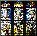 TG0202 : The church of St Andrew in Hingham - east window by Evelyn Simak