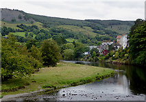 SJ1143 : The River Dee at Carrog in Denbighshire by Roger  Kidd