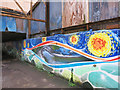 TQ1777 : Covered Dock Canal Mural by Des Blenkinsopp