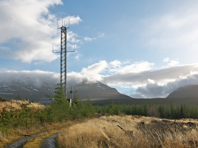 Orange Telecommunications mast above Garbat