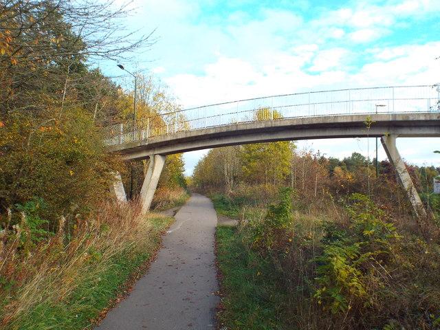 Cycle path through Washington