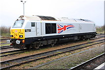 SU5290 : 'Diamond Jubilee' beside Didcot Station by Roger Templeman