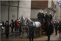 TQ3281 : View of horses in the Lord Mayor's Parade from Gresham Street #3 by Robert Lamb