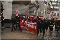 TQ3281 : View of the London Fire Brigade in the Lord Mayor's Parade in Gresham Street by Robert Lamb